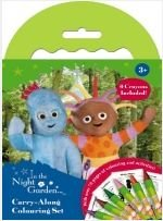 In The Night Garden Carry-Along Colouring Set with crayons