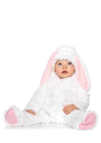 Leg Avenue Costumes Baby Bunny Fuzzy Hooded Jumpsuit with Velcro Closure