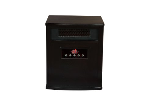 American Comfort ACW0039WE Titanium Line with Built-in Air Purifier Infrared Heater, Espresso