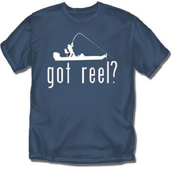 Got Reel? Slate Blue Adult Fishing T-Shirt