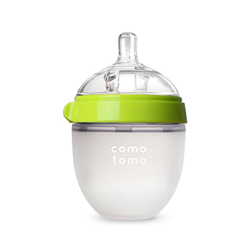 Comotomo Natural Feel Baby Bottle, Green, 5 Ounces (Baby Bottle Slow Flow compare prices)