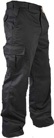 "Mens Multi Pocket Action Cargo Work Trousers Sizes 28 to 52 Black or Navy 32 Waist / 31"" Regular Leg Navy"