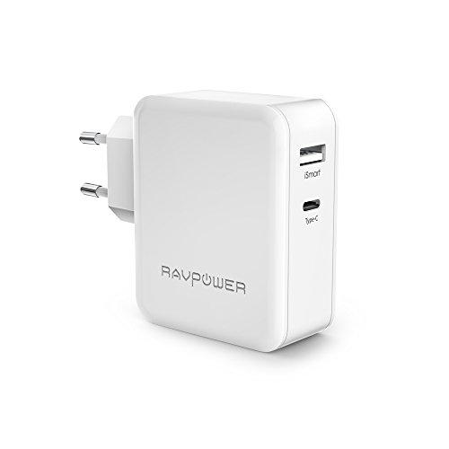 Cargador-Tipo-C-y-USB-36W-RAVPower-Cargador-Type-C-para-Samsung-Note-7-New-Macbook-etc