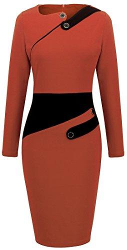 Homeyee® Women's Voguish Colorblock Wear to Work Pencil Dress B231