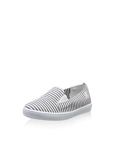 Petit Bateau Slipper [Bianco/Blu Navy]