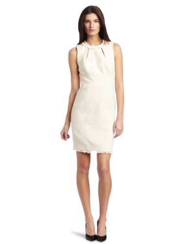 Trina Turk Women's Bridge Water Dress, Ivory, 10