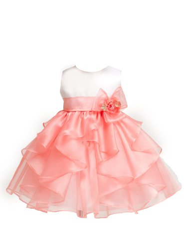 KID Collection Baby-Girls Layered Ruffle Dress 24M XLWht/Crl(KID B808)