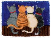 Latch Hook Rug Kit - Cats in a Row - all you need to make the rug from Anchor
