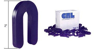 """Crl Black 1/4"""" X 2"""" Plastic Horseshoe Shims - Package"""