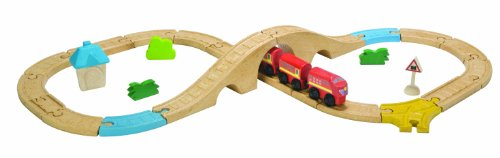 Plan Toys City Road and Rail Railway 8 Piece Figure Set