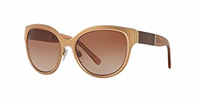 Burberry Women's BE3087 Sunglasses Light Gold / Brown Gradient 57mm