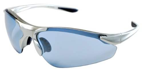 JiMarti TR15 Falcon Sunglasses for Golf, Fishing, Cycling-Unbreakable (Silver & Low Light Blue) (Light Blue Sunglasses compare prices)