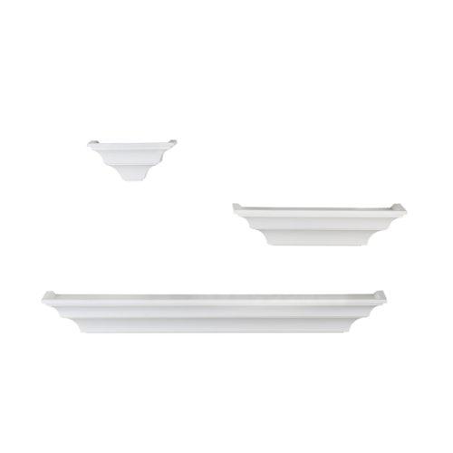 Melannco Shelves (Solid White, Set of 3)