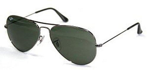 Ray Ban RB3025 Large Aviator Sunglasses - W0879 Gunmetal (G-15XLT Lens) - 58mm