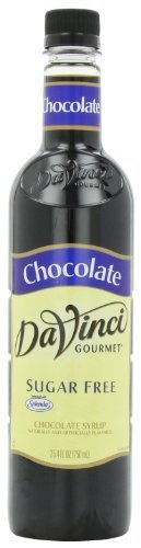 DaVinci Gourmet Classic Sugar Free Syrup, Chocolate, 25.4-Ounce Bottles (Pack of 3)