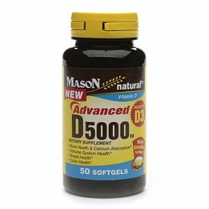 Mason Natural Vitamin D3, 5000 Iu, Softgels 50 Ea