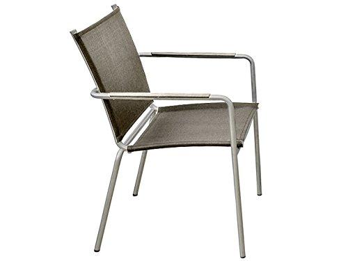 SEVILLA Garten Stuhl Sit Mobilia Edelstahl Textilene Taupe online kaufen