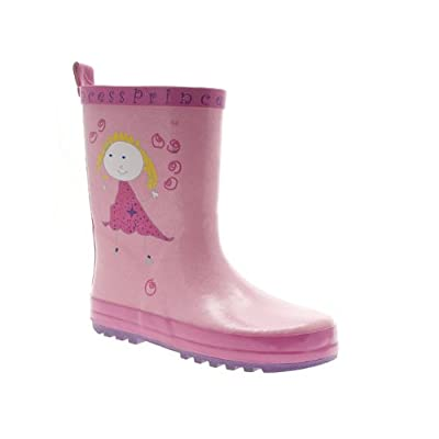 Priceless Girls Pink Princess Wellington Boots