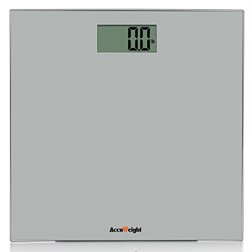 Accuweight Digital Body Weight Bathroom Scale, 400lb/180kg, Gray