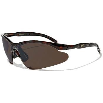 X-Loop Lunettes de Soleil - Sport - Cyclisme - Ski - Conduite - Motard / Mod. 3529 Brun / Taille Unique Adulte / Protection 100% UV400