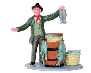 Lemax Fish Monger Poly-resin Figurine (32121) images