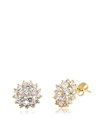 Barzel 18K Gold-Plated Flower Stud Earrings with Swarovski Elements