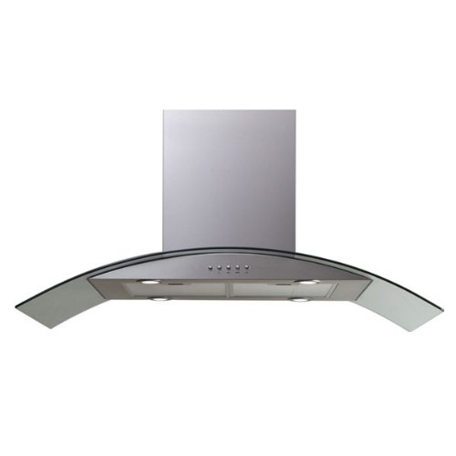 "Windster Hi42Ss 42"" Stainless Steel Chimney Style Island Mount Range Hood front-433643"