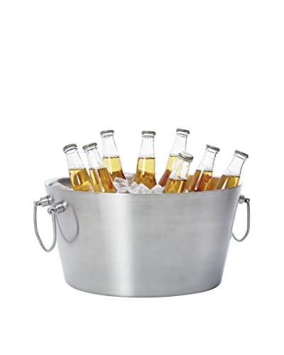 Torre & Tagus Axis Stainless Steel Double Wall Beverage Tub