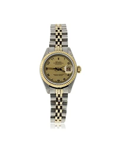 Rolex Women's Pre-Owned Datejust Champagne/Stainless Steel & 18K Yellow Gold Jubilee Watch