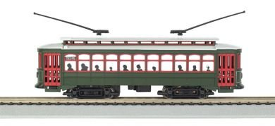Bachmann Brill Trolley New Orleans (Desire St.) with Die-Cast Power Truck HO Scale