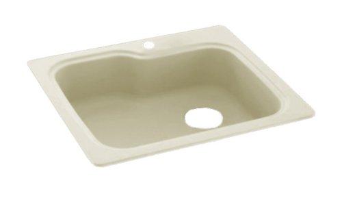 Swanstone KSSB-3322-037 33-Inch by 22-Inch Large Single Bowl Kitchen Sink, Bone Finish