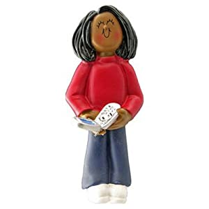 Ornament Central OC-109-FAA Female African/American Cell Phone Figurine
