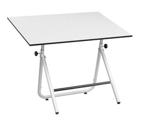 Adjustable Angle & Height Easy Fold Table (36 in. W x 48 in. W x 30.5 in. H - Black)