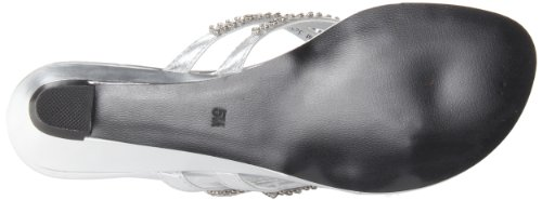 Touch Ups Women's Tango Wedge Sandal,Silver Metallic,7.5 M US