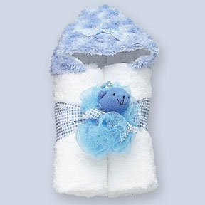 Personalized Blue Cuddle Me Minky Tubbie with Scrubbie