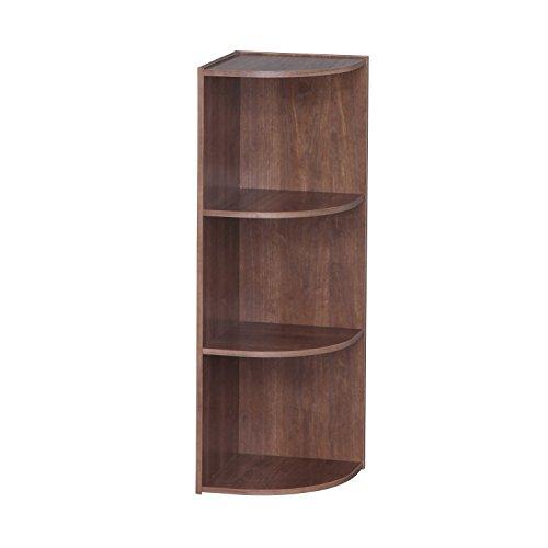 IRIS 3-Tier Corner Curved Shelf Organizer, Brown