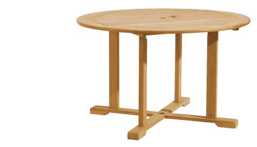 Oxford Garden 48-Inch Round Shorea Dining Table