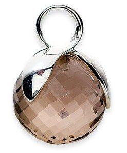 rauchquarz-anhanger-globe-14mm-925-silber-inkl-lederband