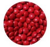 Montes Sweetsoul Milk Chocolate Gems 4 lb pack - Red (Red Milk Chocolate Gems compare prices)
