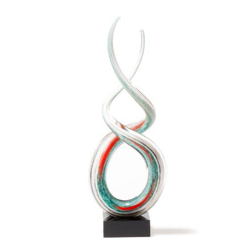Leonardo 064114 Skulptur Rotate 38 cm, weiß / türkis thumbnail