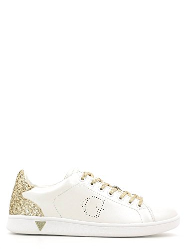 GUESS sneakers sportiva donna PELLE WHITE GOLD BIANCO FLSUP3-SUP12 (35)