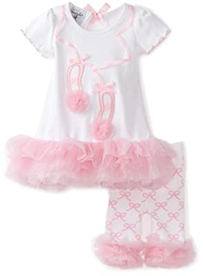 Newborn Ballet Shoe Tunic & Capri Leggings Set from Mud Pie