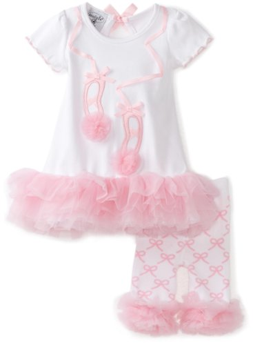 Mud Pie Baby-Girls Newborn Tiny Dancer Ballet Shoe Tunic And Capri Leggings, Pink/White, 2T-3T (Mud Pie Baby Girl Shoes compare prices)