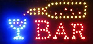Open Bar Led Neon Business Motion Light Sign. On/off with Chain 19*10*1 (Open A Bar compare prices)