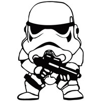 Star Wars Clone Soldier Cute Cartoon Decal Vinyl Car
