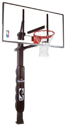 "Spalding NBA In-Ground Basketball System - 54"" Steel Framed Glass Backboard"