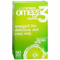 Coromega Omega-3 Fish Oil Supplement, 2.5g Single Serve Squeeze Packets, assorted flavors and quantities by Coromega