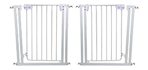 Dream On Me 2 Pack Self Closing Safety Gate, White, Small