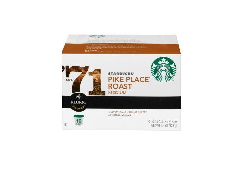 Starbucks Pikes Place Roast K Cups 10 Pack