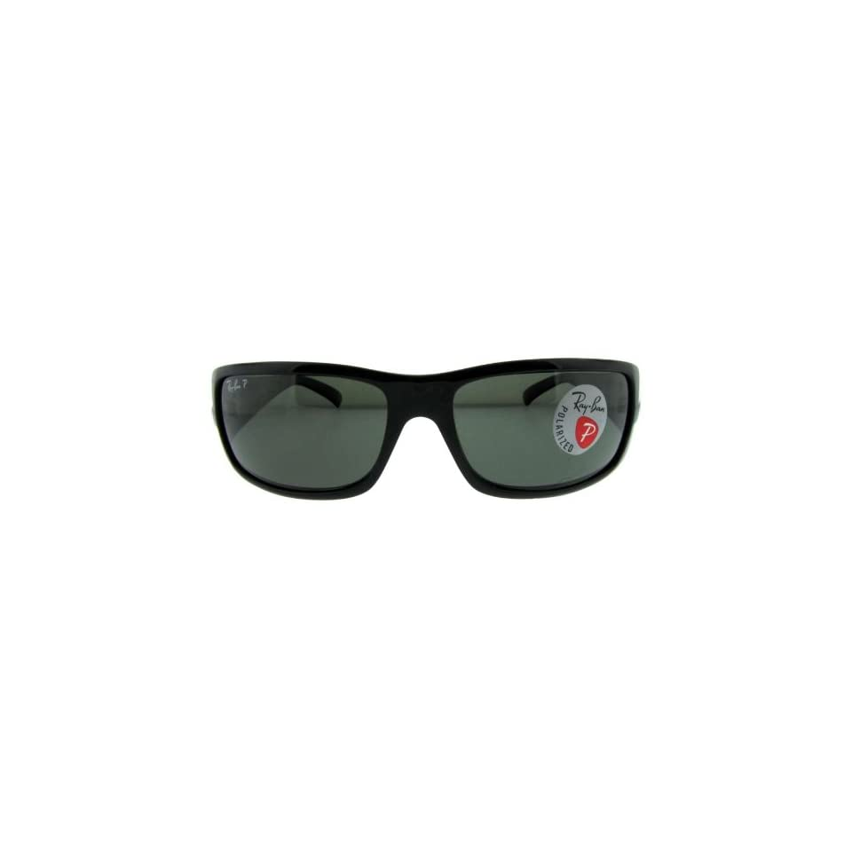386bcf1cdd294 Ray Ban RB4057 601 58 Glossy Black Frame with Gray Polarized Lenses 61mm  Sunglasses